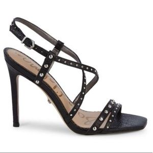 Sam Edelman Studded Leather Heeled Sandals (8.5)